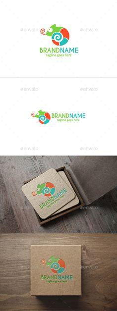 Chameleon Logo - Animals Logo Templates Download here : https://graphicriver.net/item/chameleon-logo/20502526?s_rank=214&ref=Al-fatih