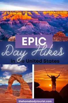 The ULTIMATE list of day hikes to add to your bucket list ASAP! All hikes included are under 10 miles and perfect for the beginner hiker! These hikes all lead to BEAUTIFUL views. Start planning your United States Road Trip TODAY!  #usatravel #ustravel #roadtrip #affordable #budget #getoutdoors #nature