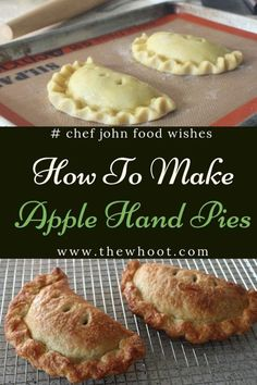 Apple Hand Pies Easy Video Recipe These Apple Hand Pies are easy to make and taste great and we have Chef John of Food Network fame here to show you how. Watch the video now. Apple Hand Pies, Fried Apple Pies, Mini Apple Pies, Individual Apple Pies, Apple Tarts, Apple Pie Bites, Fried Pies, Lemon Tarts, Pecan Pies