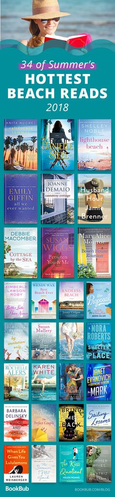 This list of beach reads worth reading is the best for a hot summer day. The books are funny, light, and in many cases have lots of romance. Perfect for women and young adults! #beachreads #books #summer2018 #summer #bookrecs