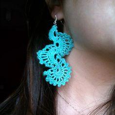 Γαλάζια πλεκτά σκουλαρίκια / Light blue crocheted earrings - Fluffy Bunny e-shop Fluffy Bunny, Blue Earrings, Crochet Earrings, Light Blue, Jewelry, Jewlery, Jewerly, Schmuck, Jewels
