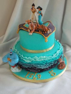 Some of the Best Birthday Cake Ideas For Kids in 2019 Aladdin Birthday Cake - Ellas jasmine party - Gateau Jasmine Birthday Cake, Aladdin Birthday Party, Cool Birthday Cakes, Birthday Cake Disney, 5th Birthday, Birthday Ideas, Princess Jasmine Cake, Disney Princess Cakes, Jasmin Party