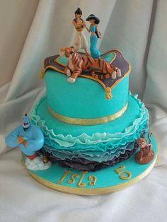 Jasmine and Aladdin cake by Jo Turner