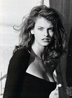 Linda Evangelista by Peter Lindbergh for Marie Claire Germany 1988
