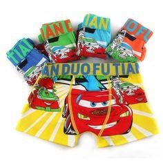 Free shipping wholesale 5 pcs cartoon milk fiber boxer briefs underwear boys kids for underwear children at factory price