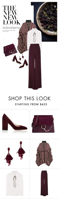 """""""Winter 2016: Trendy and chic"""" by ecletica-and-chic ❤ liked on Polyvore featuring Gianvito Rossi, Chloé, Oscar de la Renta, Burberry, Miu Miu and ADAM"""