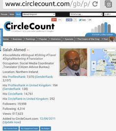 My profile at the CircleCount