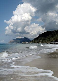 Agios Gordios Beach, Corfu, Greece, west coast about 10 miles from Corfu town. Beautiful Islands, Beautiful Beaches, Agios Gordios, Corfu Beaches, Myconos, Corfu Town, Corfu Island, Destinations, Greece Islands