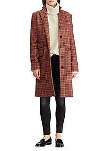 e3eb30decae Lauren Ralph Lauren Plaid Wool-Blend Trench Coat