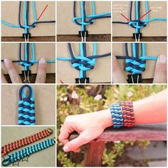 DIY Two Color Trilobite Bar Paracord Cuff Bracelet Tutorial-Video Diy Paracord Armband, Paracord Belt, Armband Diy, Paracord Bracelets, Ribbon Bracelets, Bracelet Crafts, Woven Bracelets, Jewelry Crafts, Hairband Bracelet