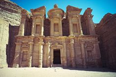 Al Deir, Monastery at Petra. Oh The Places You'll Go, Places To Visit, Barcelona Cathedral, Notre Dame, To Go, In This Moment, House Styles, Leica, Travel