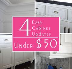 4 Easy Cabinet Updates Under $50