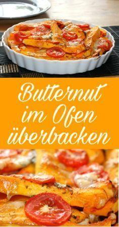 Herbstzeit ist Kürbiszeit - wie wäre es mit einem leckeren Butternut Kürbis im Ofen mit Käse überbacken. Zum Einsatz kommt eine Marinade aus Sojasauce und Kräutern. Mehr dazu auf meinem Blog. #kürbisrezept #butternut #überbacken #kürbis butternuss