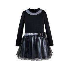 Rochie fete AMELIA, negru argintiu, marime 6 ani