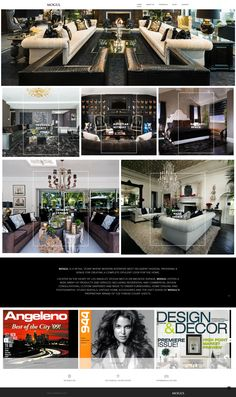 Website makeover for Los Angeles retail store MOGUL where modern interiors meet decadent fashion, providing a venue for creating a complete opulent look for the home.
