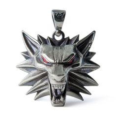 The-Witcher-3-Geralt-medallion-handmade-Wolf-head-necklace-Wild-hunt-pendant