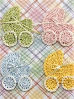 [Video Tutorial] Beautiful Crochet Baby Shower Carriage Favor Applique
