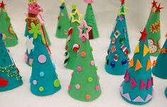 Resultat d'imatges de plantilles d'arbres de nadal