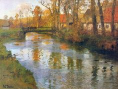 Frits Thaulow (1847-1906) Wonderful Norwegian Painter (1)