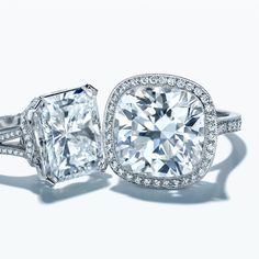 Brilliant beyond compare. Tiffany's statement diamond rings feature magnificent one-of-a-kind stones.