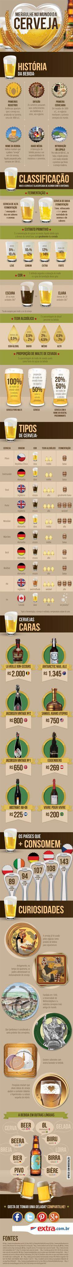 Infográfico: O mundo da cerveja