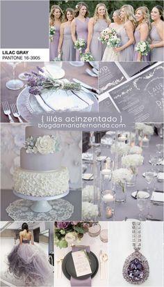 Decoração de Casamento : Paleta de Cores Lilás Acinzentado