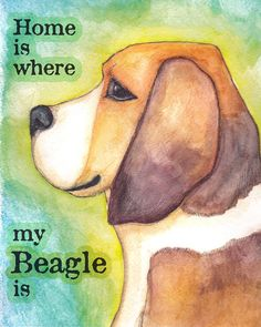 Home Is Where My Beagle Is 8x10  Dog Lovers Art by SunnySpotStudio, $20.00