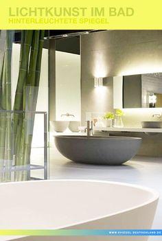 Mit der richtigen Beleuchtung im #Badspiegel bekommt Ihr Badezimmer genau das Licht, welches Sie benötigen. Lichtkunst im Bad mit unseren hinterleuchteten Wandspiegel.  http://www.spiegel-deutschland.de/wandspiegel/