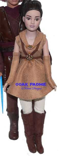 """OOAK Doll as PADME Star Warsby *TorresDesigns  ONE OF A KIND TINY KITTY COLLIER TONNER DOLL, REPRESENTING PREGNANT PADME FROM THE NEW STAR WARS MOVIE """"REVENGE OF THE SITH""""!"""