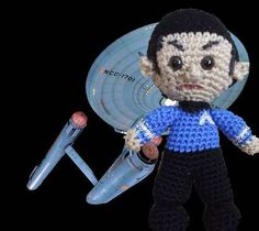 Spock - CROCHET  - Knitting, sewing, crochet, tutorials, children crafts, jewlery, needlework, swaps, papercrafts, cooking and so much more on Craftster.org