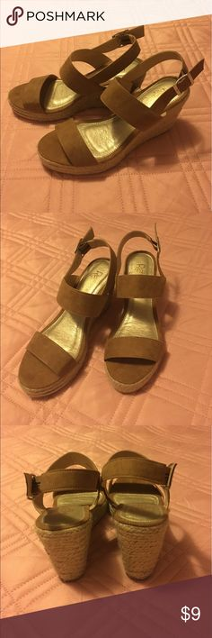 💜wedge sandals NWOT Never worn wedge sandals. NWOT If you have any questions let me know❗️  ✅bundle to save more❗️  ✅reasonable offers welcome   🚫trading  ❤️💜❤️ happy poshing Shoes Wedges