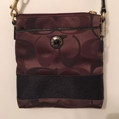 Coach cross body Brown Coach cross body purse. Has front and back pockets and an adjustable strap. This is a great size to fit wallet, keys, phone, compact etc. Great condition--barely used! Coach Bags Crossbody Bags
