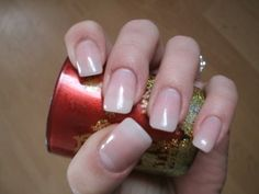 clear pink gel nails