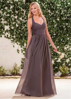 Buy discount Fantastic Chiffon Scoop Neckline Full-length A-line Bridesmaid Dresses at Dressilyme.com