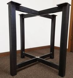Shop a great selection of Metal Trestle Style Steel Table Base - Any Size Color. Find new offer and Similar products for Metal Trestle Style Steel Table Base - Any Size Color. Table Legs, A Table, Dining Tables, Table Bases, Dining Room, Round Table Top, Table Frame, Steel Table, Steel Metal