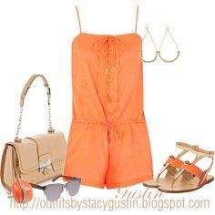 Summer| Orange Romper– Fashionista Trends