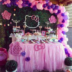 Ideas For Birthday Balloons Wallpaper Hello Kitty Hello Kitty Photos, Hello Kitty Themes, Hello Kitty Cake, Birthday Party Decorations, Birthday Parties, Birthday Cakes, Birthday Ideas, Hello Kitty Birthday Theme, Decoracion Hello Kitty
