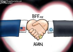 President Trump and Prime Minister Netanyahu seem to have repaired the damage to U.S. Israeli relations caused by Obama.  A Political Cartoon by A.F. Branco