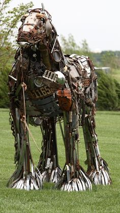 https://flic.kr/p/4VrRZp | Iron Horse IX | Strange horse sculpture made up of old bits of bank paraphanalia
