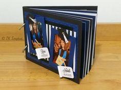 Álbum de fotos em scrapbook (visão geral da decoração) #tkscrapbook