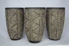 artpropelled:  Sgraffito Pots by Demon Potters