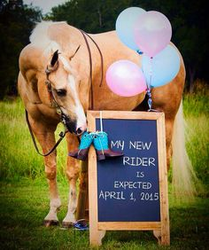Birth of a horse lover. So cute!!!<3