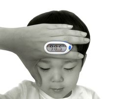 Get the 'sick or not sick' scoop with this finger thermometer!