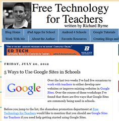 5 Ways to Use Google Sites in the Classroom - excellent ideas for teachers and students! (And links to show you how, plus a link to another post that explains how to get started with Google Sites!)