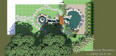 Дизайн прудика с фонтаном и водопадом. #Пруд #Дача #Иваново #Ландшафт