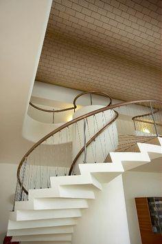 Terminal, Kastrup, Copenhagen Airport. Architect : Vilhelm Lauritzen Stair Design, Copenhagen, Denmark, Stairs, God, Interior Design, Architecture, Space, Home Decor