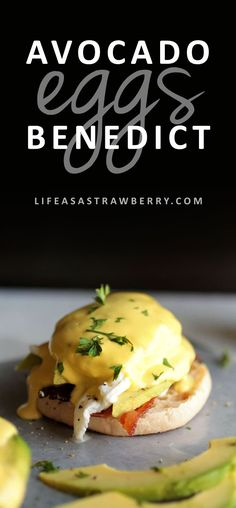 Avocado Eggs Benedict   Shake up your brunch routine with this easy eggs Benedict recipe! Complete with fresh, creamy avocado, crispy bacon, and tangy goat cheese for a fun twist on this classic breakfast recipe. Made with a foolproof blender hollandaise
