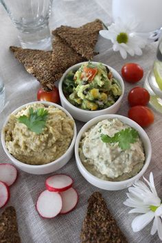 Dips, Dips, Dips - Austins Super Bowl Weekend — Fresh n Crunchy -  Avocado Hummus, Creamy Cannellini Bean Dip, and Tex-Mex Guacamole!
