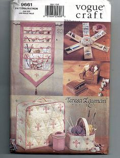 Sewing Accessories  / Original Vogue Craft Uncut Sewing Pattern 9661 by grammysyarngarden on Etsy