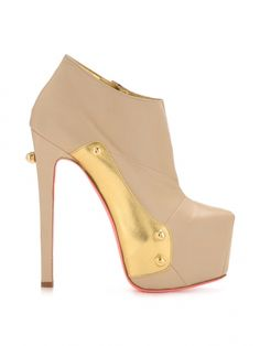 Tan Gold Microcompact #Booties by Ruthie Davis - ShopKitson.com #shoes #boots